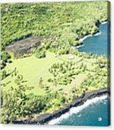 Aerial View Hale O Pi'ilani Heiau Honomaele Hana Maui Hawaii  Acrylic Print