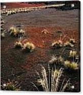 Haleakala - Red And Black Acrylic Print