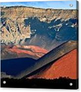 Haleakala Cinder Cones Lit From The Sunrise Within The Crater Acrylic Print