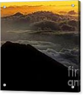 Haleakala Hawaii Sunrise Cloudscape  Acrylic Print