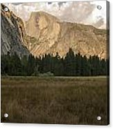 Half Dome And The Yosemite Valley Acrylic Print