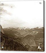 Half Dome From Glacier Point Yosemite Valley  California Circa 1910 Acrylic Print