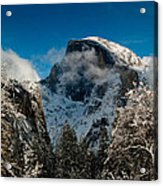Half Dome Winter Acrylic Print by Bill Gallagher