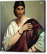 Half-length Portrait Of A Roman Woman Acrylic Print