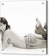 Half Nude Looking Back 1040.01 Acrylic Print