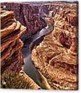 Half Of Horshoe Bend - Page Az Acrylic Print