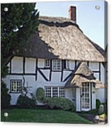 Half-timbered Thatched Cottage Acrylic Print