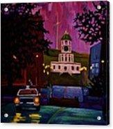 Halifax Night Patrol And Town Clock Acrylic Print