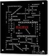 Halifax Nova Scotia Landmarks And Streets Acrylic Print