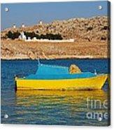 Halki Fishing Boat Acrylic Print