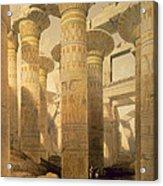 Hall Of Columns, Karnak, From Egypt Acrylic Print by David Roberts