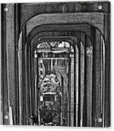 Hall Of Giants - Beneath The Aurora Bridge Acrylic Print