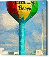 Hallandale Beach Water Tower Acrylic Print