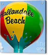 Hallendale Beach Water Tower Acrylic Print