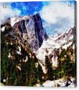 Hallett Peak In Spring Acrylic Print