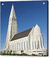 Hallgrimskirkja Church In Reykjavik Iceland Acrylic Print