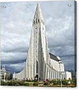 Hallgrimskirkja Iceland Acrylic Print