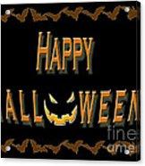 Halloween Bat Border Acrylic Print