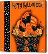 Halloween Black Cat Cupcake 3 Acrylic Print