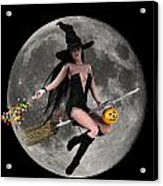 Halloween Fly By Acrylic Print by Frederico Borges
