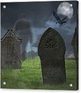 Halloween Graveyard Acrylic Print