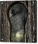 Halloween Keyhole Acrylic Print by Amanda Elwell