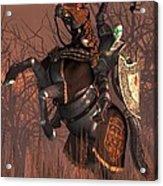 Halloween Knight Acrylic Print by Daniel Eskridge