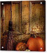Halloween Night Acrylic Print by Sandra Cunningham