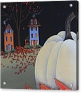 Halloween On Pumpkin Hill Acrylic Print by Catherine Holman