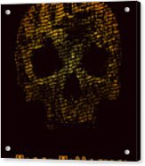 Halloween Poster With Skull. Vector Acrylic Print