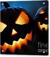 Halloween Pumpkins Closeup -  Jack O'lantern Acrylic Print