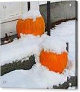 Halloween Snow Acrylic Print