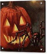 Halloween Spider Acrylic Print