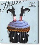 Halloween Treat Witch Cupcake Acrylic Print