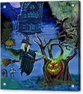 Halloween Witch's Coldron Acrylic Print