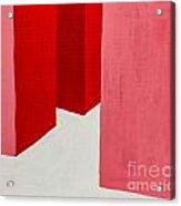 Hallway Red Acrylic Print