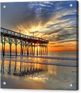 Halo Pier Sunrise  Acrylic Print