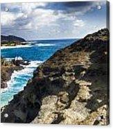 Halona Blowhole Lookout- Oahu Hawaii V2 Acrylic Print
