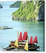Halong Bay Sails 02 Acrylic Print