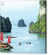 Halong Bay Sails 03 Acrylic Print