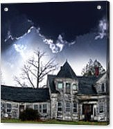 Haloween House Acrylic Print by Skip Willits