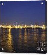 Hamburg Harbor Skyline Acrylic Print