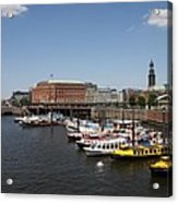 Hamburg Port With Fleet  Acrylic Print