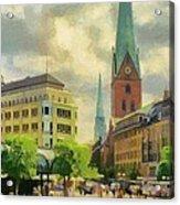 Hamburg Street Scene Acrylic Print