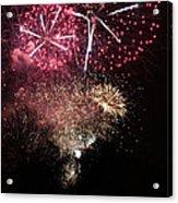 10715 Hamburg Winter Dom Fireworks Acrylic Print