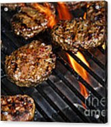 Hamburgers On Barbeque Acrylic Print