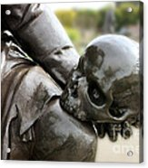 Hamlet Contemplating The Skull  Acrylic Print by Terri Waters