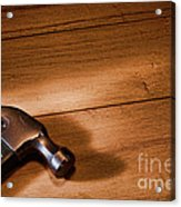 Hammer On Wood Acrylic Print
