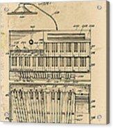 Hammond Organ Patent Acrylic Print
