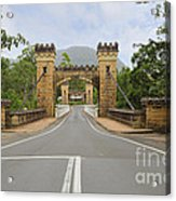 Hampden Bridge Kangaroo Valley Acrylic Print